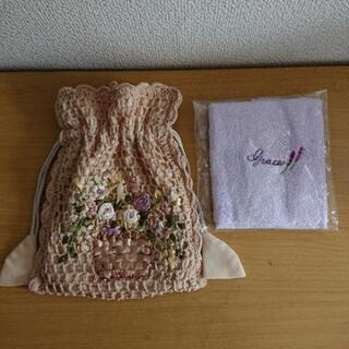 巾着 ポーチ・タオルハンカチ ( 新品 )