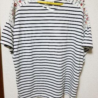 新品 ボーダーシャツ 4L