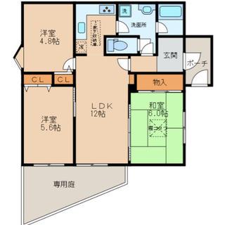 分譲マンション3LDK♫角部屋で専用庭付き♫設備も充実、駅までスグ♫
