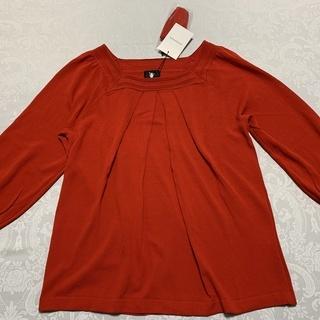 「東京スタイル」の七分袖綿ニット、未使用です。