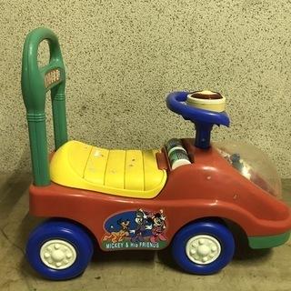 ミッキー 手押し車 乗用玩具 幅53cm×奥行27cm×高さ47cm