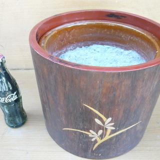 手あぶり火鉢・陶器製・木灰付き