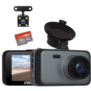 【新品・未使用】ドライブレコーダー 前後カメラ 1080PフルH...