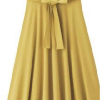 ☆GU ウエストリボンポンチフレアスカート Mサイズの画像