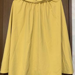 ☆GU ウエストリボンポンチフレアスカート Mサイズ - 服/ファッション