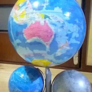 地球儀( 天球儀 月球儀付き)
