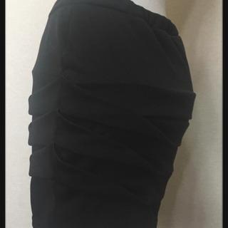 タイトスカート  日本製  無地ブラック