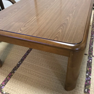 家具調こたつ 長方形 高さ調整有り 和室テーブル