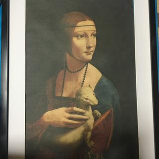 飾り絵  白貂を抱く貴婦人 レオナルド・ダ・ヴィンチ