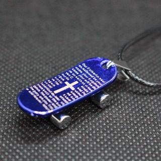 【未使用】スケボー スケートボード ネックレス 青 がんちゃん