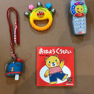 おもちゃの携帯、ガラガラ、絵本(ミキハウス).トーマスストラップ...
