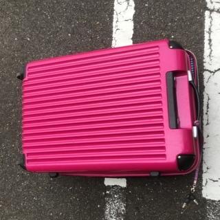 【ピンク 旅行カバン】保管箱、釣りや旅の収納、道具入れ、倉庫がわ...