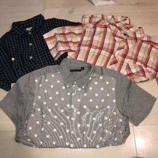 再値下げ☆メンズシャツ☆セットで1000円