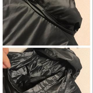 【新品】黒 ロング 11号 コート ドット M〜L 膝丈  長袖 上着 秋冬 - 服/ファッション