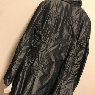 【新品】黒 ロング 11号 コート ドット M〜L 膝丈  長袖 上着 秋冬 − 長崎県
