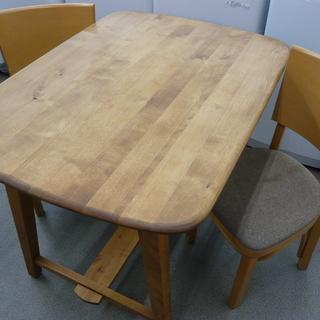 2人掛け ダイニングセット 木製 ブラウン 食卓セット テーブル...