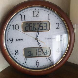 【温度計・湿度計付き電波時計❗️言うことなし。文字も大きく】黙っ...