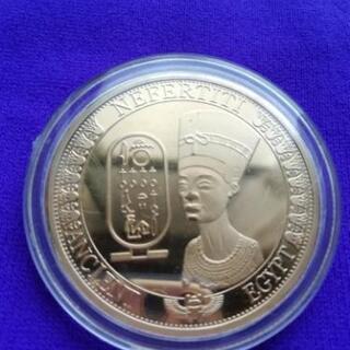 ◆◆◆エジプト ネフェルティエ女王 ◆◆◆  エンボス記念コイン...