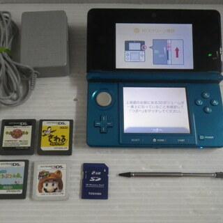 ニンテンドー3DS ブルー ソフト4本付