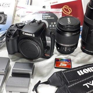 非常に美品 Canon キャノン EOS kiss x ダブルレ...
