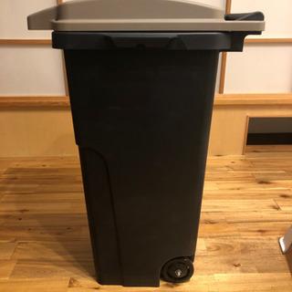 リス キャスターペール 90L ゴミ箱 ネイビー