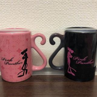 新品 USJ ピンクパンサー ペアマグカップ