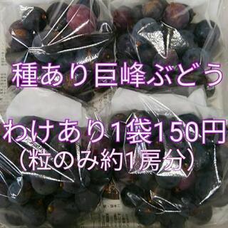 【10/10頃まで】わけあり!種あり巨峰ぶどう300g袋150円...