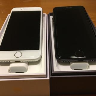 iphone 8 本体 au 新品、未使用2台セット!ガラスコー...