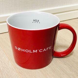 赤マグカップ二個セット(メモリ付き)新品