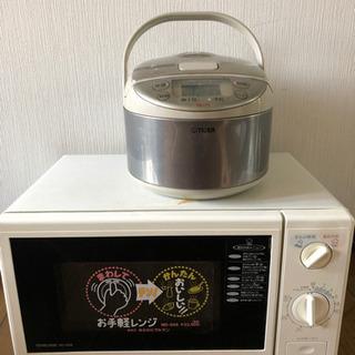 電子レンジと炊飯器