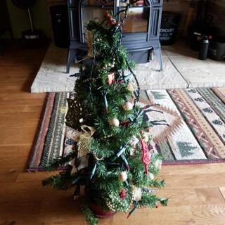 300円 クリスマスツリー 80cm イルミネーション 電飾 オ...