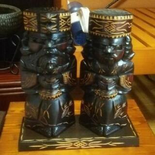 木彫り 置物 人形 エスニック アジアン バリ ハワイ 工芸品