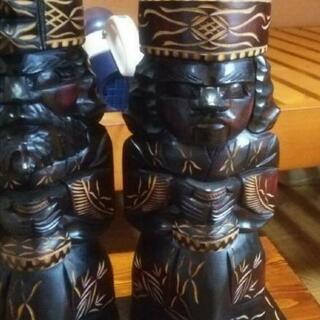 木彫り 置物 人形 エスニック アジアン バリ ハワイ 工…