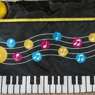 水玉音符 横型 トートバッグ ピアノ レッスンバック