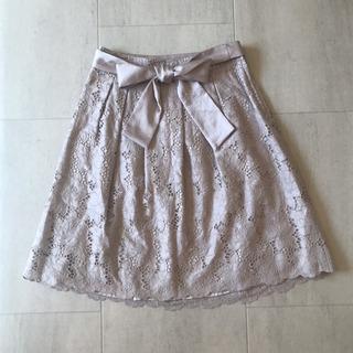 ナチュラルビューティー◎ウエストリボン刺繍スカート