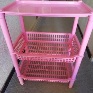 3段収納ボックス《ピンク色》