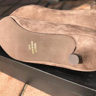 新品 ローヒール スエード調モカベージュ 24㎝ - 靴/バッグ
