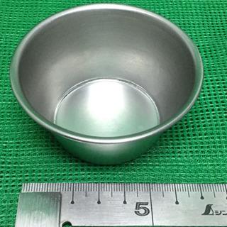 中古  プリンカップ  ステンレス  上径6.7  下径4.8  高さ3.5  (cm内径) ゼリーカップ  10個  - 羽島市