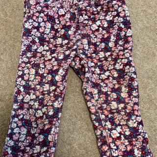 ☆baby Gap 花柄コーデュロイ パンツ 80cm