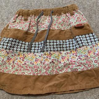 ☆RAG MART コーデュロイ風 × 花柄スカート 95…
