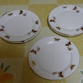 値下げ 青藍窯 ケーキ皿 蝶々 5枚で 200円