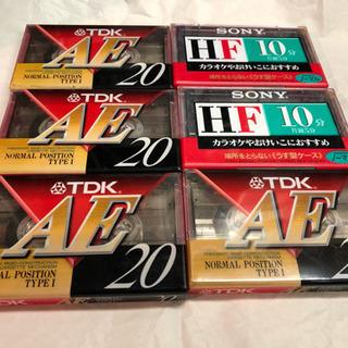 ⭐️無料‼️ 新品 未使用   TDKとソニーのカセットテープ  6本