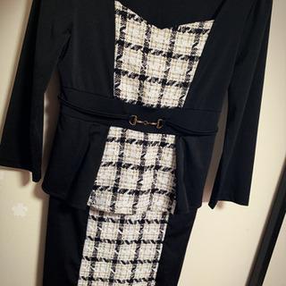 Ryuyu キャバドレス M ツイード ブラック