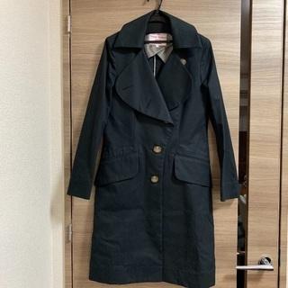 【新品】ヴィヴィアンウエストウッド ラブ襟 トレンチコート ブラック