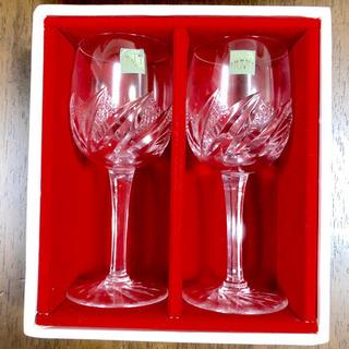 【未使用】HOYA クリスタルワイングラス ペアセット