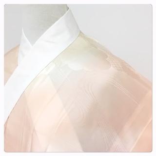 美品 特選 身丈118 裄61.5 正絹 雲取り 長襦袢 単衣...