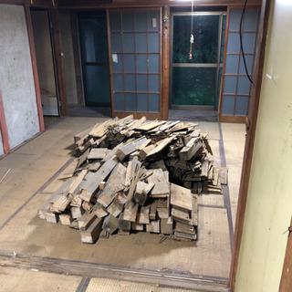 廃材差し上げます 薪にどうぞ 残り30袋です