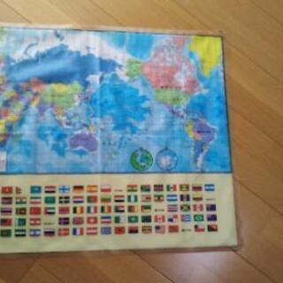 公文式【世界地図ポスター】ビニール製