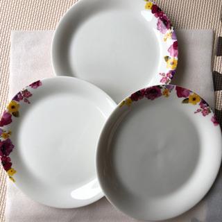 francfranc プレート 皿 20cm 花柄 3枚