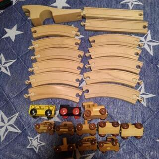 IKEA木のおもちゃ。列車 レール